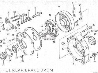 honda atc200es 1984 (e) canada parts lists and schematicsf 11 rear brake drum