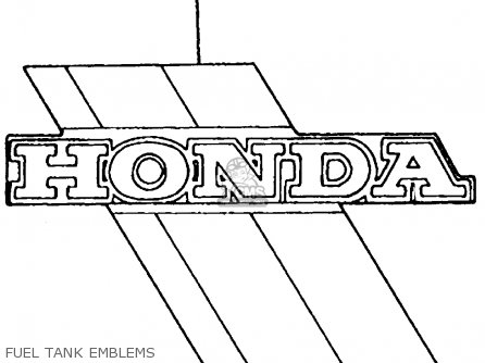 Honda Atc200es Big Red 1984 e Usa Fuel Tank Emblems