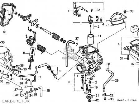 Honda Atc250es Big Red 1985 f Carburetor