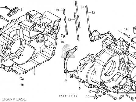 Honda Atc250es Big Red 1985 f Crankcase