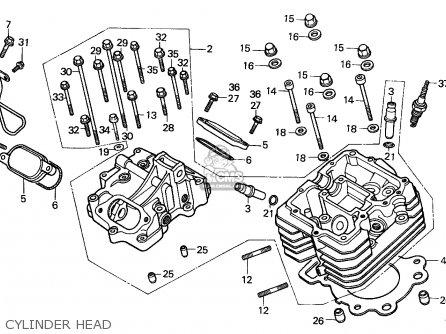 Honda Atc250es Big Red 1985 f Cylinder Head