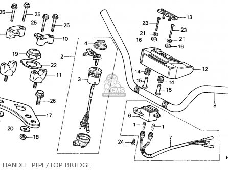 Honda Atc250es Big Red 1985 f Handle Pipe top Bridge