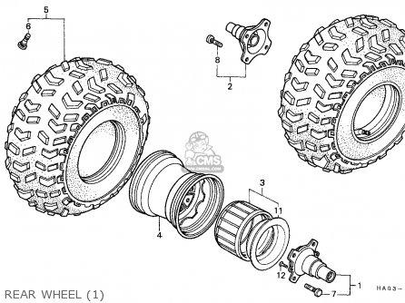 Honda Atc250es Big Red 1985 f Rear Wheel 1