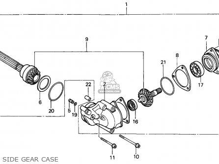 Honda Atc250es Big Red 1985 f Side Gear Case