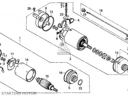 Honda Atc250es Big Red 1985 f Starting Motor