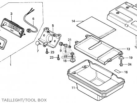 Honda Atc250es Big Red 1985 f Taillight tool Box