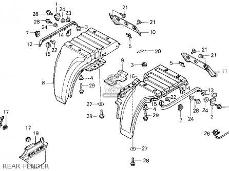 Honda ATC250ES BIG RED1985  F  USA parts lists and schematics