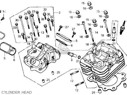 honda atc250sx 1986 (g) usa cylinder head