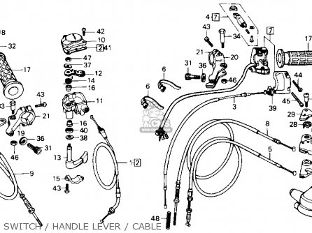 honda atc250sx 1986  g  usa parts list partsmanual partsfiche