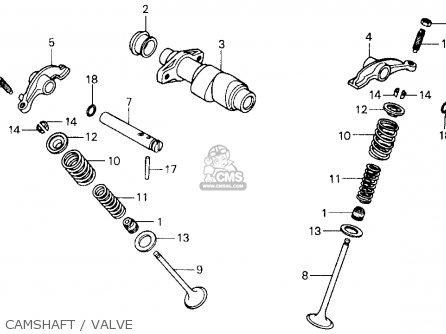 honda atc250sx 1987 (h) usa camshaft / valve