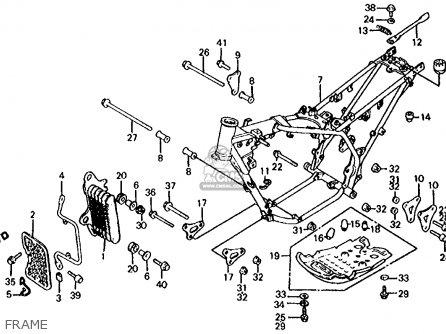 honda atc350x 1986  g  usa parts list partsmanual partsfiche
