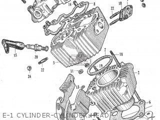 Honda C105t E-1 Cylinder-cylinder Head
