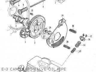 Honda C105t E-3 Camshaft-valve-oil Pipe