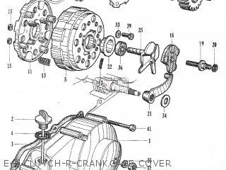Honda C105t E-4 Clutch-r-crankcase Cover