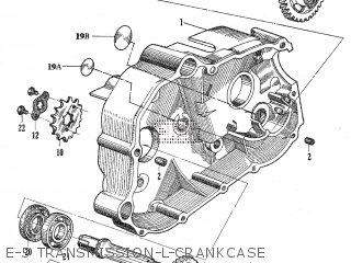 Honda C105t E-5 Transmission-l-crankcase