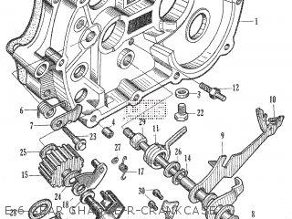 Honda C105t E-6 Gear Change-r-crankcase