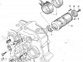 Honda C105t E-7 Shift Drum