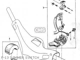 Honda C105t F-13 Dimmer Switch