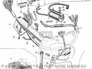Honda C105t F-15 Headlight-battery-wire Harness