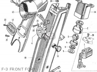 Honda C105t F-3 Front Fork