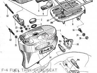 Honda C105t F-4 Fuel Tank-dual Seat