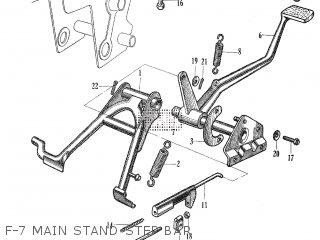 Honda C105t F-7 Main Stand-step Bar