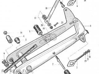 Honda C105t F-9 Rear Fork