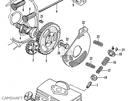 Honda C110 Camshaft - Valve