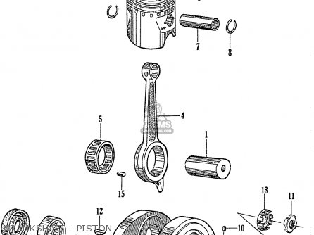 Honda C110 Crankshaft - Piston
