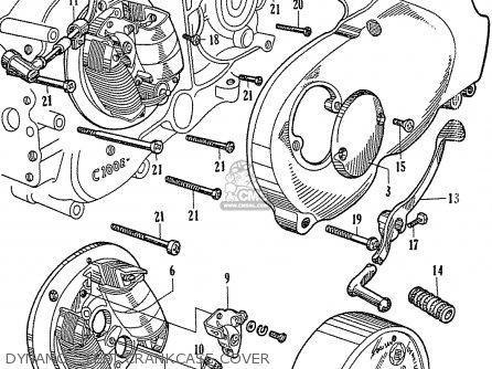 Honda C110 Dynamo - Left Crankcase Cover