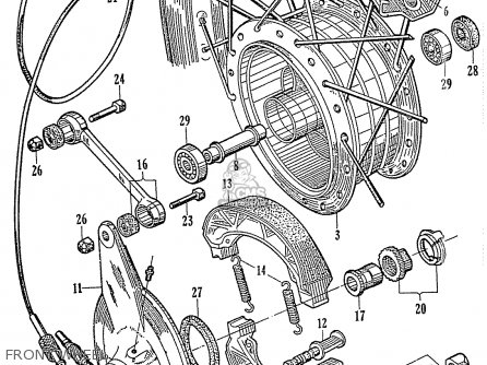 Honda C110 Front Wheel