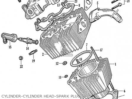 Honda C110 General Export 140115 Cylinder-cylinder Head-spark Plug