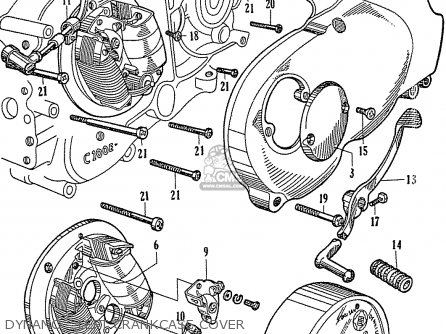 honda c110 general export 140115 parts lists and schematics 1966 Honda Trail 50 dynamo left crankcase cover
