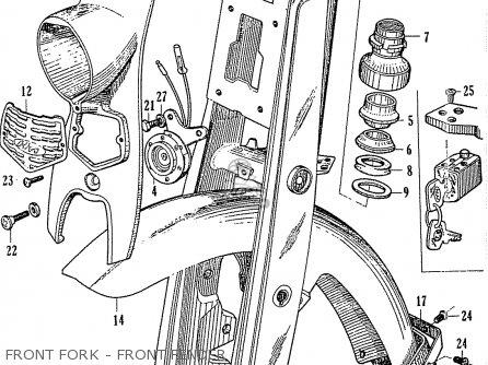 Honda C110 General Export 140115 Front Fork - Front Fender