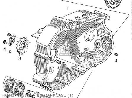 Honda C110 Transmission - L  Crankcase 1