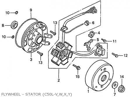 Honda C50l Little Cub 2000 y Japan Flywheel - Stator c50l-v w x y