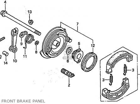 Honda C50l Little Cub 2000 y Japan Front Brake Panel