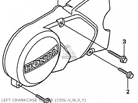 Honda C50l Little Cub 2000 y Japan Left Crankcase Cover c50l-v w x y