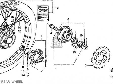 Honda C50l Little Cub 2000 y Japan Rear Wheel