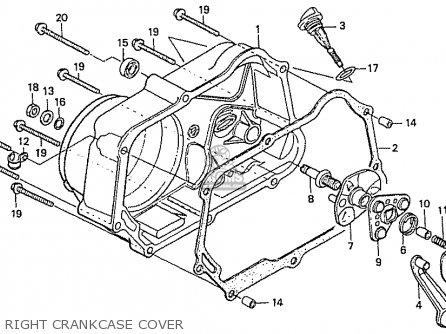 Honda C50l Little Cub 2000 y Japan Right Crankcase Cover