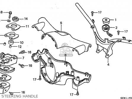 Honda C50l Little Cub 2000 y Japan Steering Handle
