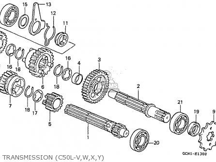 Honda C50l Little Cub 2000 y Japan Transmission c50l-v w x y