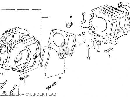 Honda C50la Cub 1984 e England Cylinder - Cylinder Head