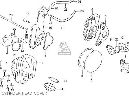 Honda C50la Cub 1984 e England Cylinder Head Cover
