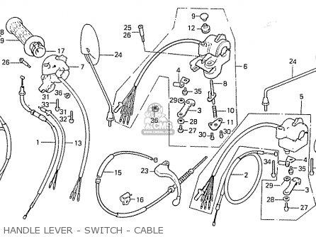 Honda C50la Cub 1984 e England Handle Lever - Switch - Cable