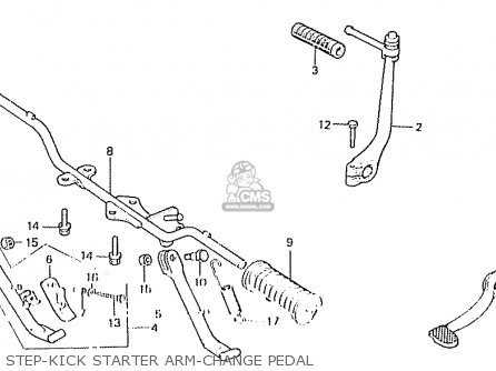 Honda C50la Cub 1984 e England Step-kick Starter Arm-change Pedal