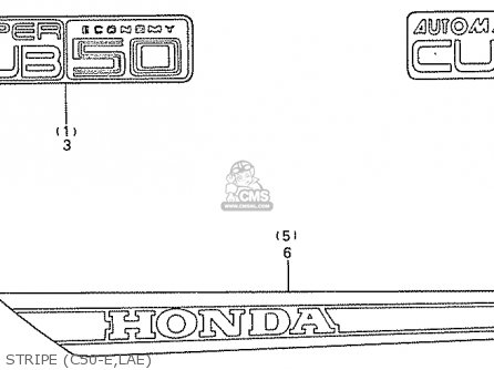 Honda C50la Cub 1984 e England Stripe c50-e lae