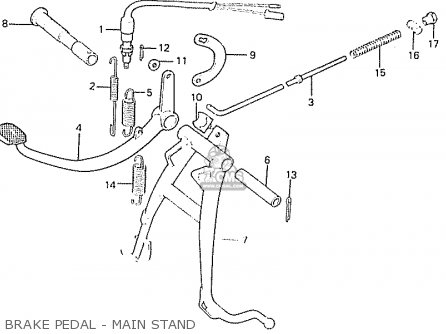 Honda C50lae england Brake Pedal - Main Stand