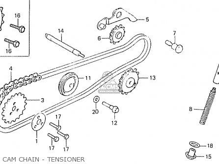 Honda C50lae england Cam Chain - Tensioner