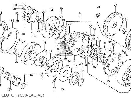 Honda C50lae england Clutch c50-lac ae